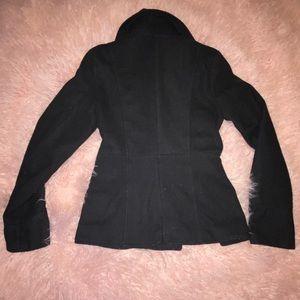 Jackets & Coats - Black pea coat with pockets